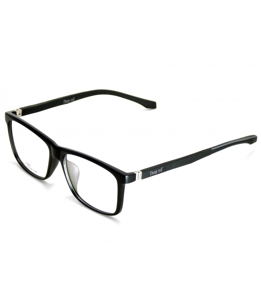 9fdada111bfd9 Armação Óculos de Grau Drop mE Acetato TR90 Preto Hastes Flex - Drop mE