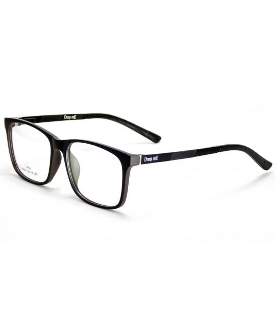 df1a9c9552e67 Armação Óculos de Grau Drop mE Acetato TR90 Cinza Preto Hastes Flex ...