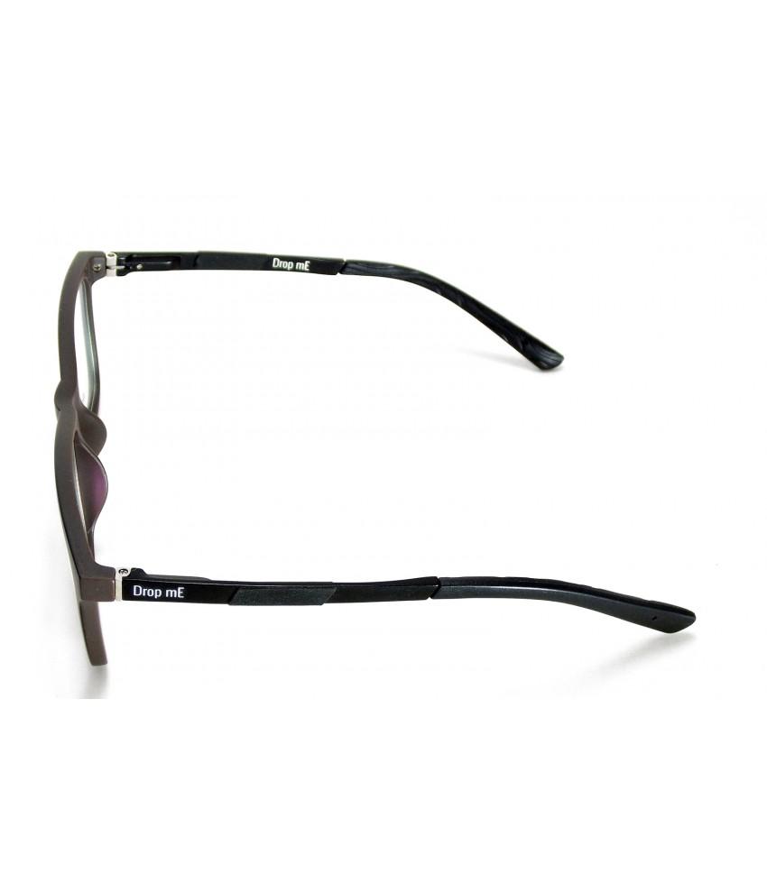 ... Armação Óculos de Grau Drop mE Acetato TR90 Cinza Preto Hastes Flex ... ab8fd51c11
