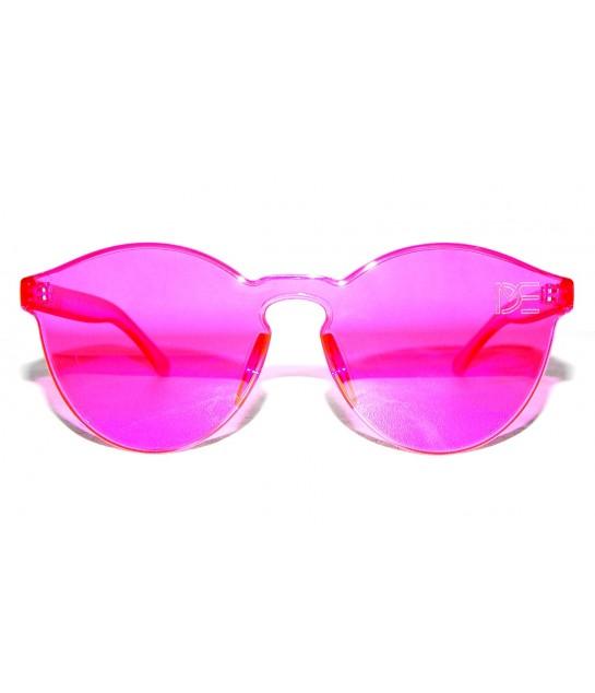 3f6596f34 Oculos de Sol Redondo Drop mE Translucido Glass Rosa retro