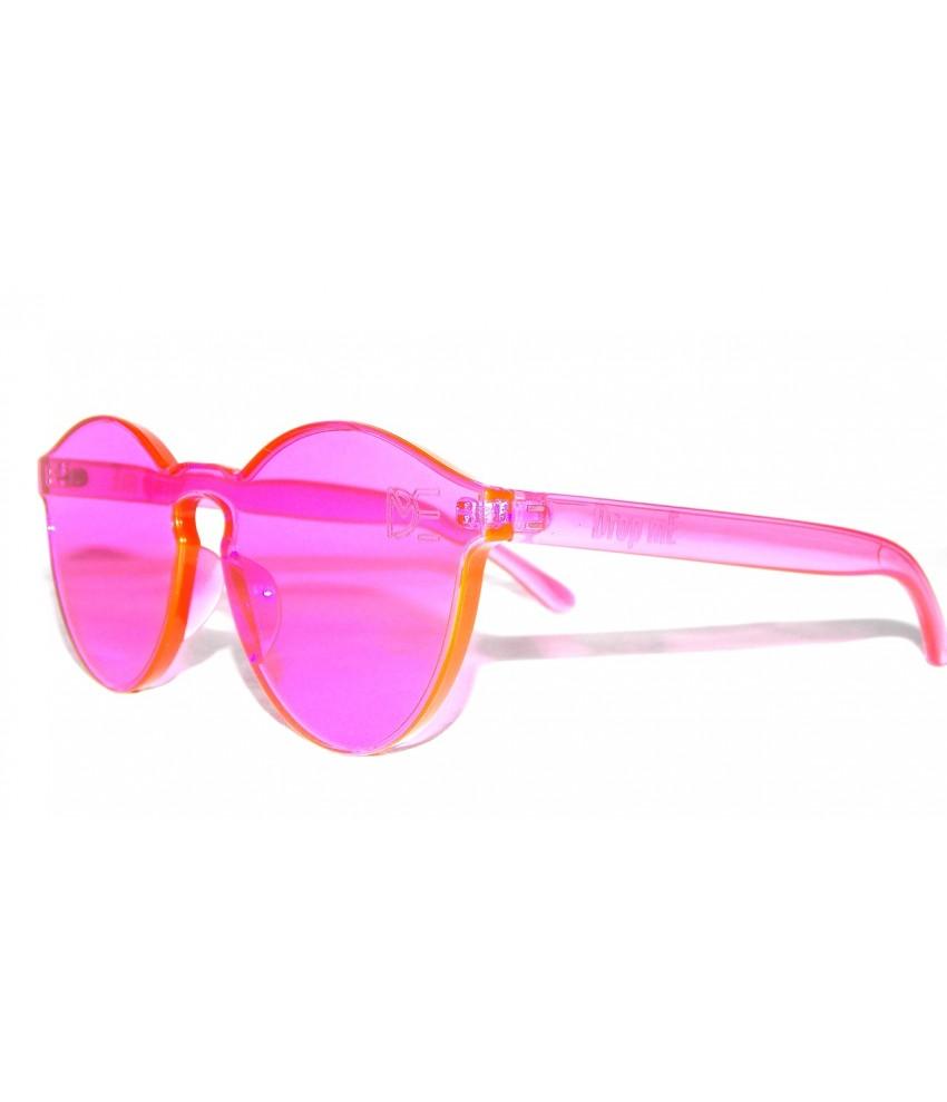... Óculos de Sol Redondo Drop mE Translucido Glass Rosa ... 2c669c5f3c