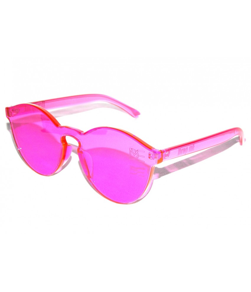 fe9afd3ca6b25 ... Óculos de Sol Redondo Drop mE Translucido Glass Rosa ...