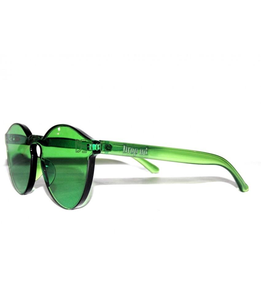 668ddebce Óculos de Sol Redondo Drop mE Translucido Glass Verde - Drop mE