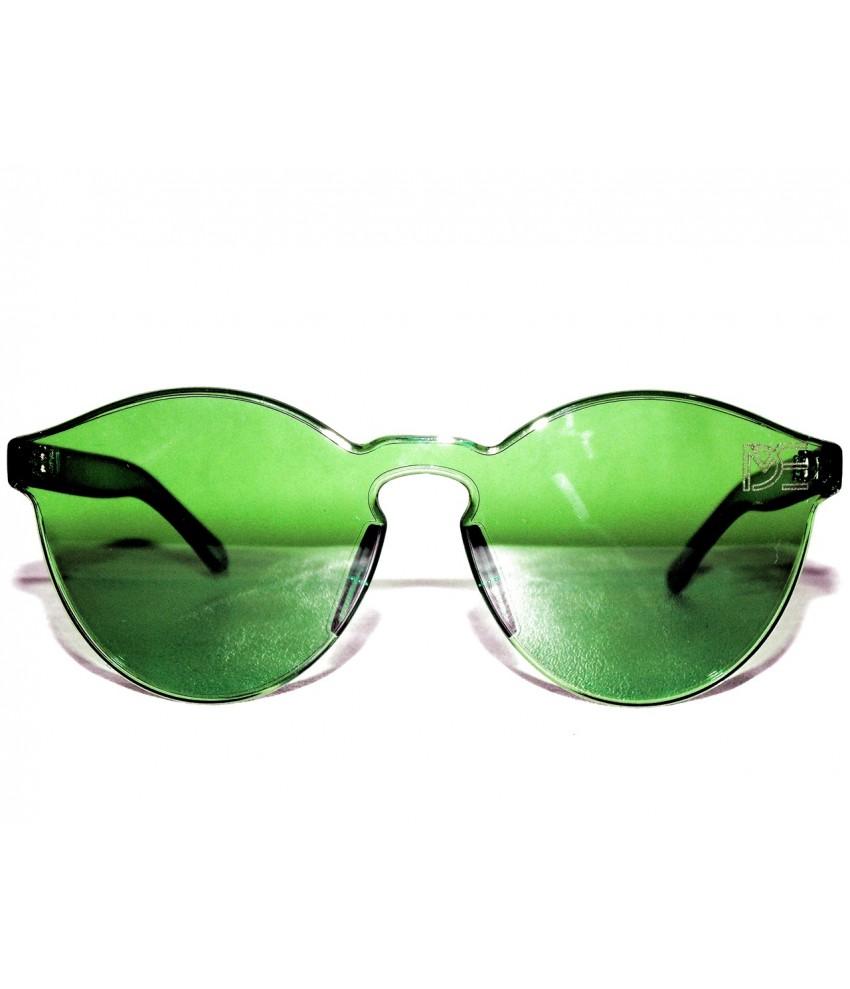 da2409ab2ce0a Óculos de Sol Redondo Drop mE Translucido Glass Verde - Drop mE