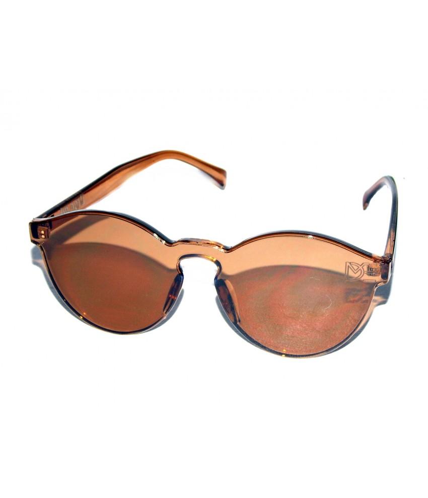 ce66702b1d7ea ... Óculos de Sol Redondo Drop mE Translucido Glass Âmbar ...