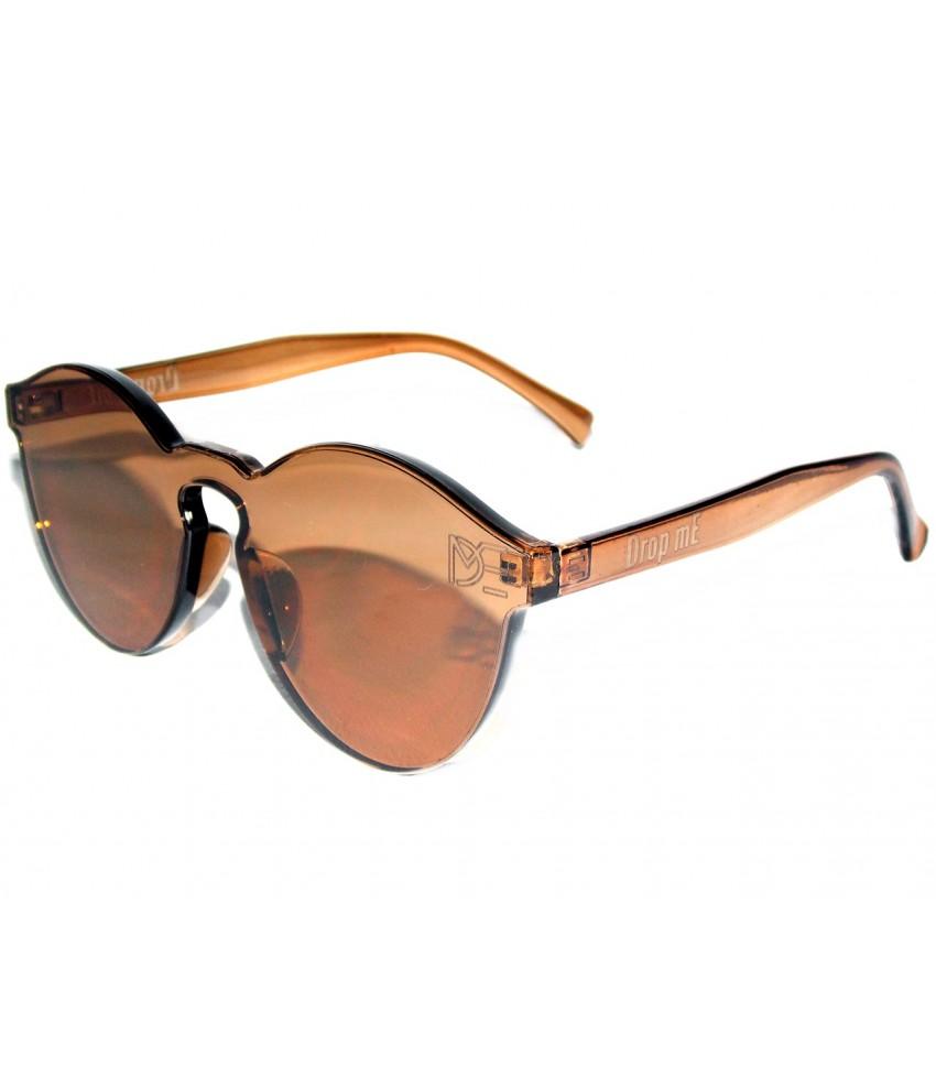 642be73c9a5ff ... Óculos de Sol Redondo Drop mE Translucido Glass Âmbar
