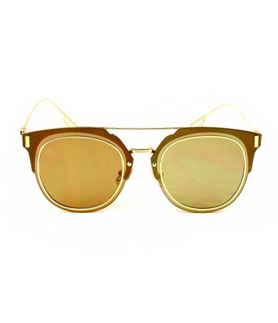 895e72257 Oculos de Sol Drop mE Clubmaster Flat Espelhado Dourado