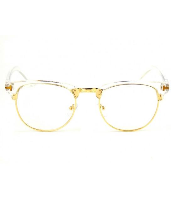 Armação Óculos de Grau Drop mE Clubmaster Translucido Dourado - Drop mE c9efbeb487