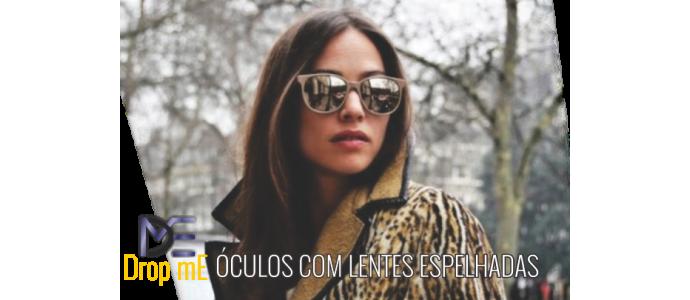 0f0318f2cb9f3 Óculos com lentes espelhadas, a cara da estação